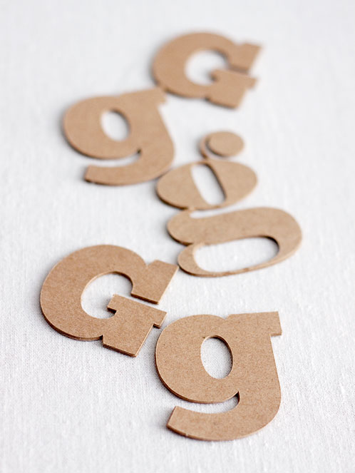 Custom Chipboard Letters