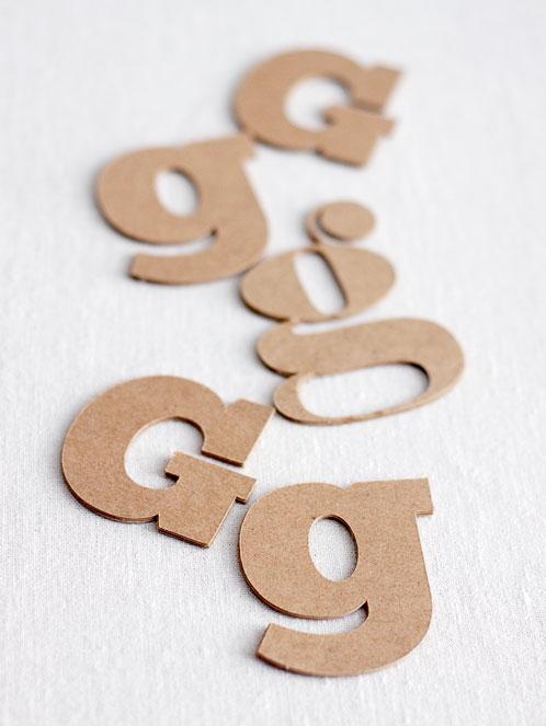 Custom Chipboard Letters