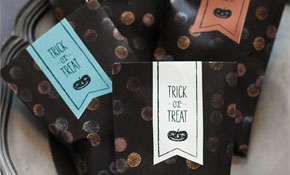 Confetti Stamped Halloween Treat Bags