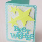 Die Cut Card Kit Best Wishes