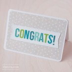 Card Kit #3 : Congrats Banner Project Idea