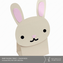 Baby Bunny Treat + Favor Box Die Cut