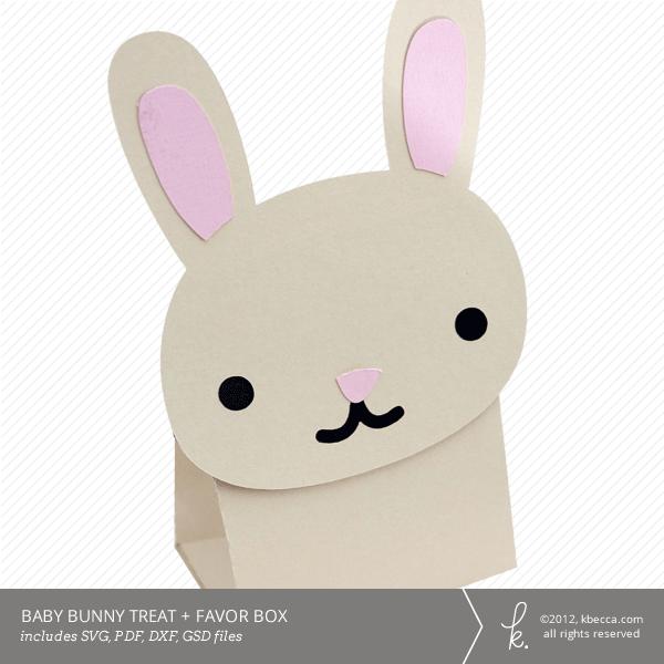 Baby Bunny Treat + Favor Box Die Cut