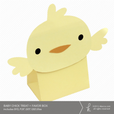 Baby Chick Treat + Favor Box Die Cut