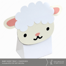 Baby Sheep Treat + Favor Box Die Cut