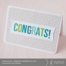 Card Kit #3 : Congrats Banner