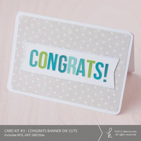 Card Kit #3 : Congrats Banner