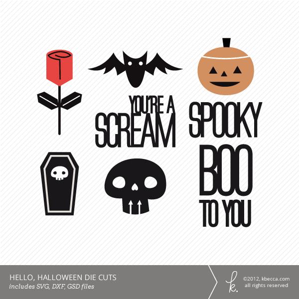 hello halloween die cuts