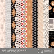 Hello, Halloween Digital Printable Patterns (Set 1)