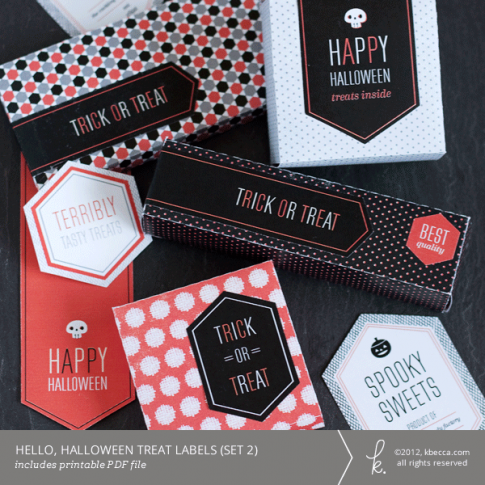 Hello, Halloween Printable Treat Labels (Set 2)