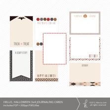 Hello, Halloween 3x4 Journaling Cards