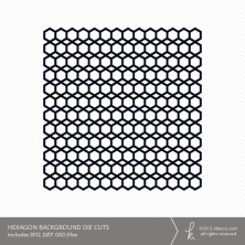 Hexagon Background Die Cuts
