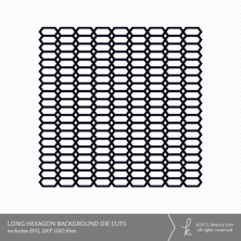 Long Hexagon Background Die Cuts