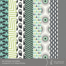 MC Spooky Patterned Papers