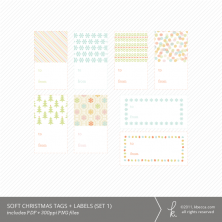 Soft Christmas Printable Tags + Labels (Set 1)