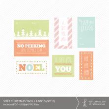 Soft Christmas Printable Gift Tags (Set 2)