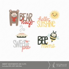 Sweet Sentiments Die Cuts