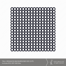 Tall Hexagon Background Die Cuts