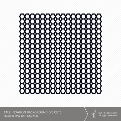 Tall Hexagon Background Die Cuts
