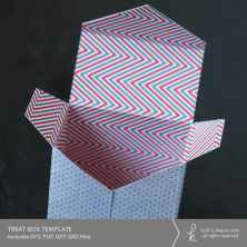Envelope Flap Treat Box Template