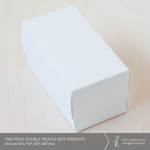 Two Piece Double Truffle Gift & Favor Box Template