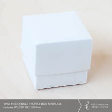 Two Piece Single Truffle Gift & Favor Box Template
