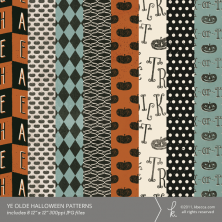 Ye Olde Halloween Digital Patterned Papers