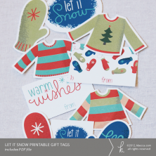 Let It Snow Printable Gift Tags