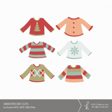 Holiday Sweater Die Cuts