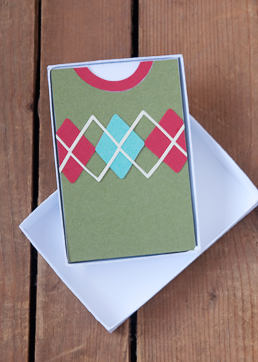 Argyle Sweater Gift Card Box Die Cutting Files