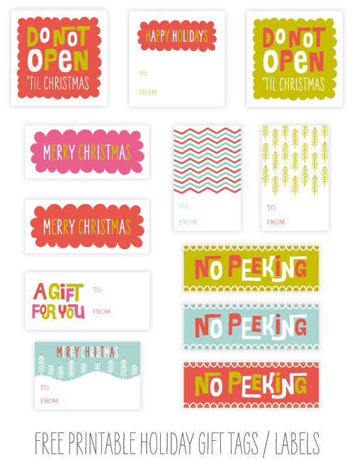 image regarding Printable Holiday Gift Tags referred to as Cost-free Printable Getaway Present Tags