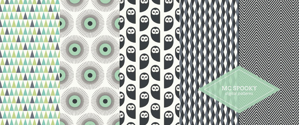 MC Spooky Digital Printable Patterned Papers