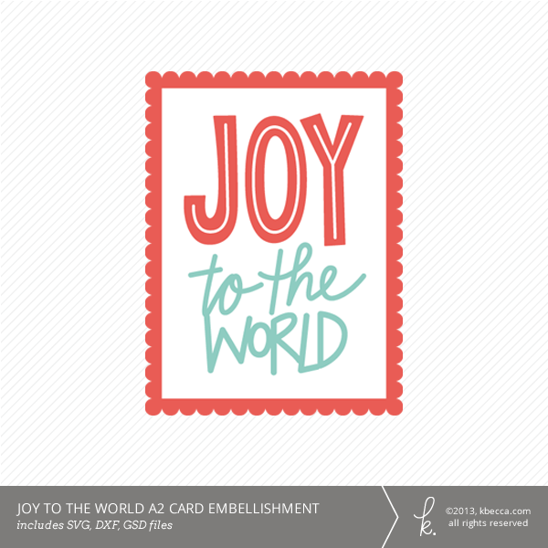 Joy To The World A2 Card Die Cuts