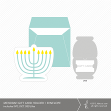 Menorah Gift Card Holder + Envelope Die Cuts