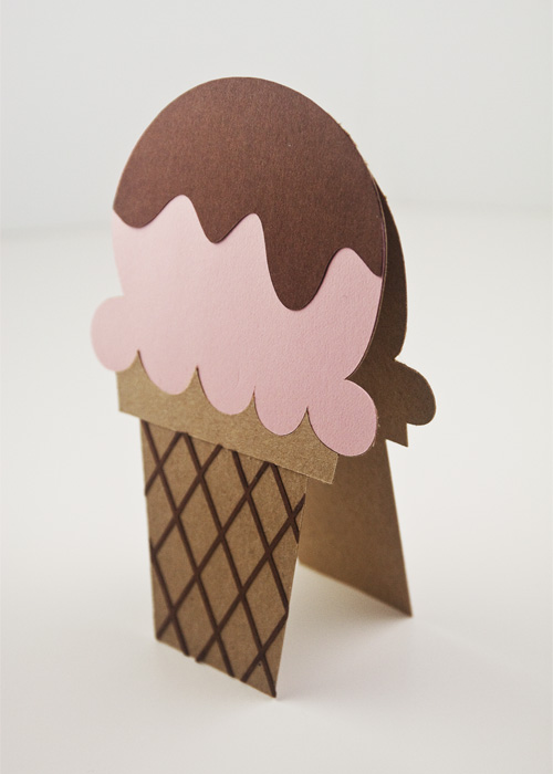 Square Cone Ice Cream Card Die Cuts Svg Files Included