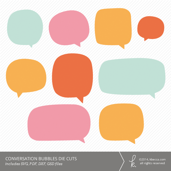 Conversation Bubble Die Cuts SVG Files Included