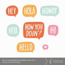 Hello Conversation Bubble Die Cuts | k.becca #svg #cardmaking