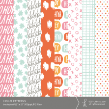 Hello Digital Printable Patterns | k.becca #cardmaking