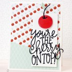 You're the Cherry on Top Die Cut Handmade Card | k.becca #cardmaking #diecut #svg