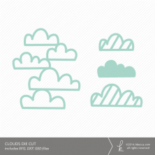 Clouds Background Die Cut | K.becca #svg #diecut