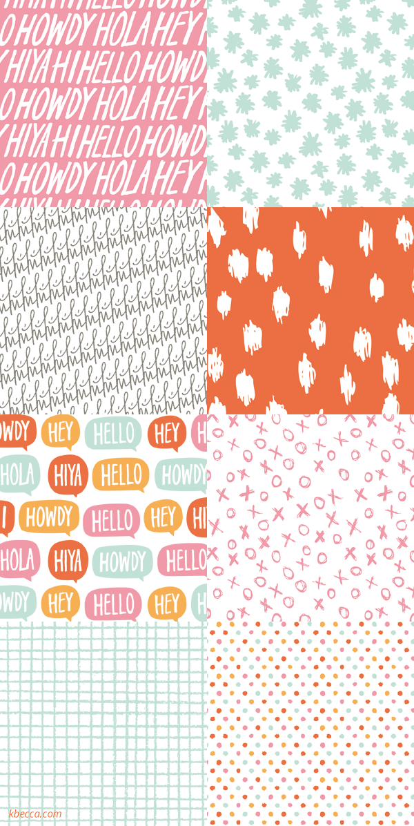 Hello Digital Printable Patterns | k.becca