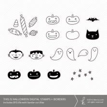 This Is Halloween SVG Digital Stamps + Border Die Cuts | K.becca #diecuts #svg