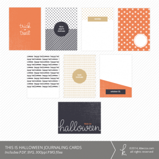 This Is Halloween 3x4 Journaling Cards | K.becca