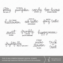 This Is Halloween Phrases Digital Stamps | K.becca