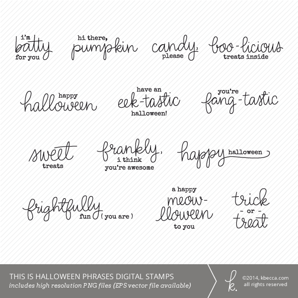 This Is Halloween Phrases Digital Stamps