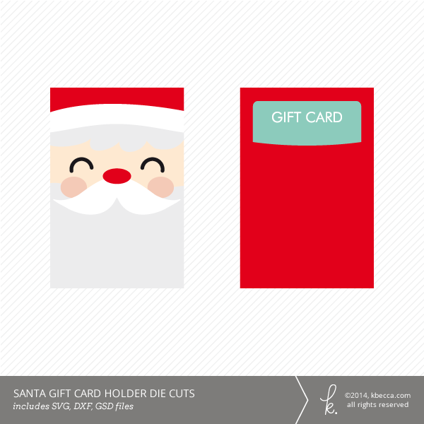 Santa gift card holder die cuts svg included santa gift card holder die cuts kcca negle
