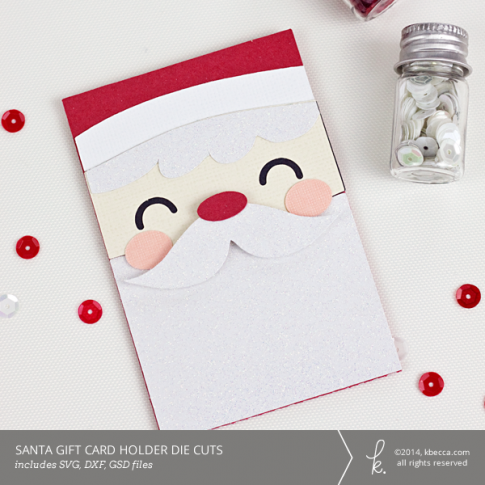 Santa Gift Card Holder Die Cuts | K.becca