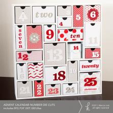 Advent Calendar Number Die Cuts | K.becca