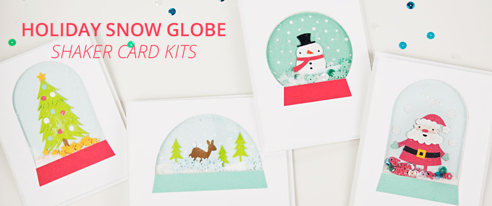 Holiday Snow Globe Shaker Card Kits