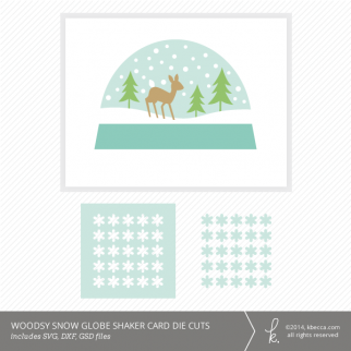 Woodsy Snow Globe Shaker Card Kit Die Cuts | K.becca